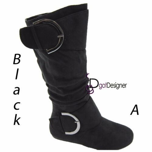 Womens Shoes Boots Faux Fur Wedges Knee High Mid Calf Slouch Boots Comfort Warm