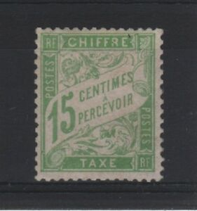 FRANCE-STAMP-TIMBRE-TAXE-N-30-034-TYPE-DUVAL-15c-VERT-JAUNE-034-NEUF-xx-LUXE-T658