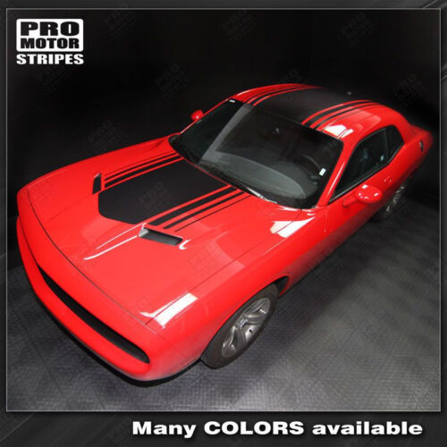 Dodge Challenger Over Top Shaker Style Stripes Decals 2015 2016 2017 2018 2019