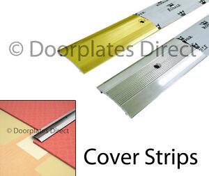 Carpet Cover Strip Door Bar Trim Silver Or Brass