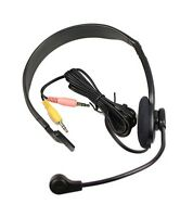 EMKAY PC Computer Headset - 3.5mm PC Earphone Microphone - VOIP Skype