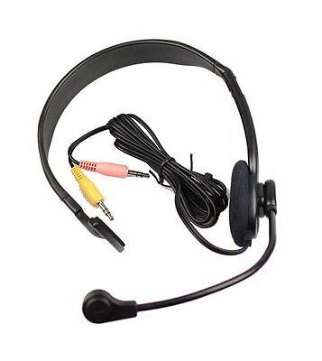 EMKAY PC Computer Headset - 3.5mm PC Earphone Microphone - VOIP Skype