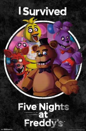 22x34-15845 I SURVIVED POSTER FIVE NIGHTS AT FREDDY/'S