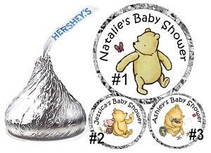 d7bcf844e545 108 CLASSIC WINNIE THE POOH BABY SHOWER FAVORS HERSHEY KISS KISSES ...