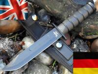 Linder German Military Combat Army Knife With Sharpening Stone Hunting Bushcraft