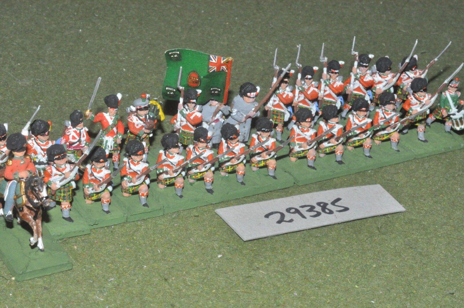 25mm napoleonic   british - highlanders 28 figures - inf (29385)