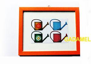 QUADRETTO CON CORNICE IN LEGNO NOCE PER DECORAZIONE CUCINA 24X19 | eBay