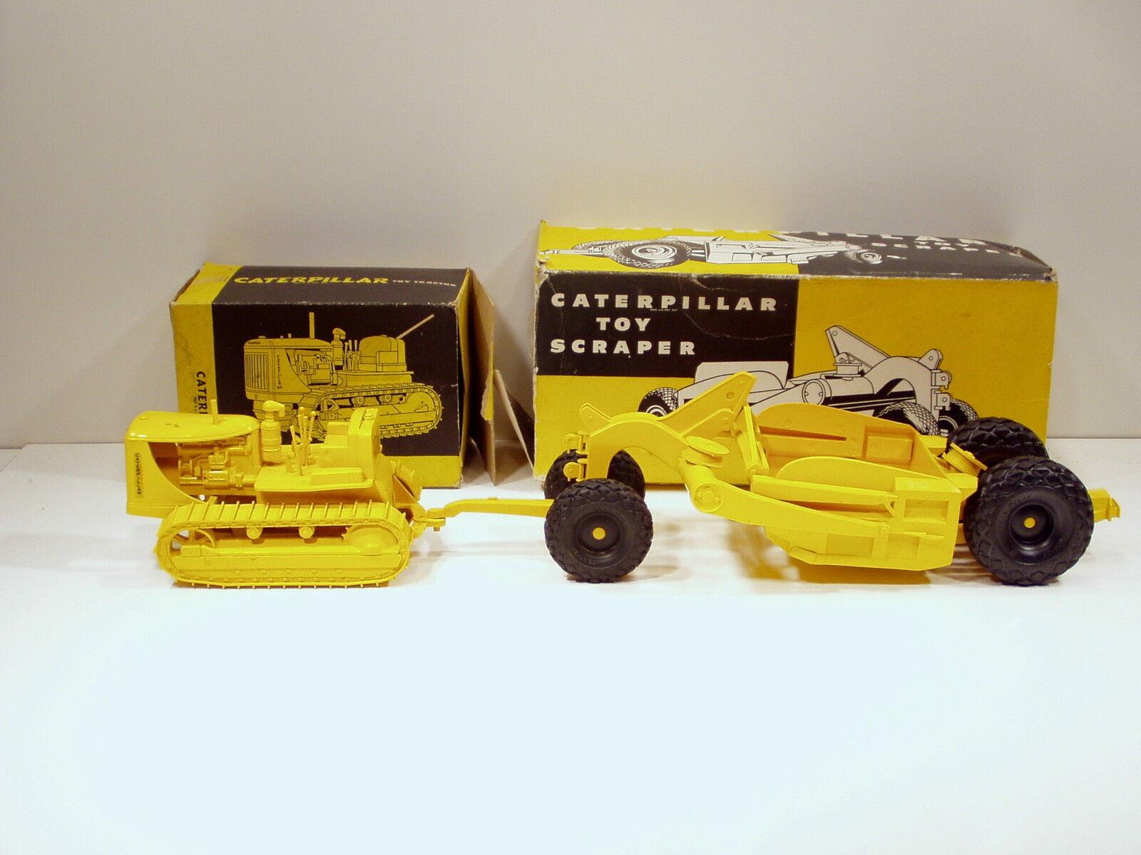 Caterpillar D7 Crawler & 70 Pull Raspador - -Plástico-Cruver-C  Cajas