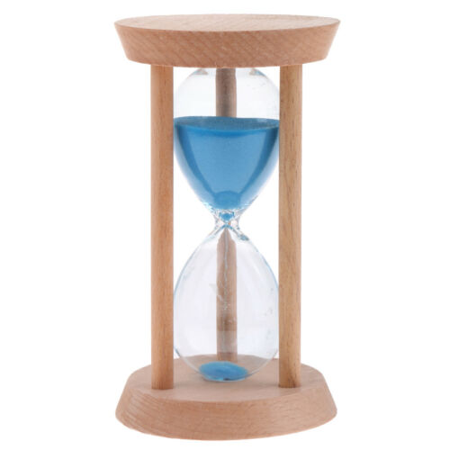 30 Minutes Wooden Blue Sand Egg Timer Decorative Hourglass Kitchen Cooking