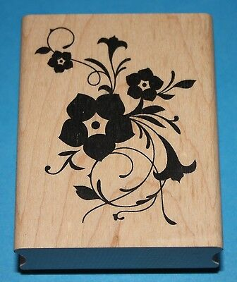 NEW Inkadinkado 'Spring Burst' Wooden Backed Rubber Stamp