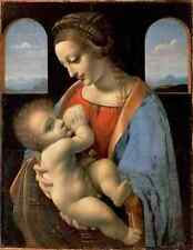 Leonardo Da Vinci Madonna Litta A3 Box Canvas