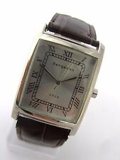Bergmann 1928 * Rechteckig * Herren Quarz Uhr * PU Lederband Braun