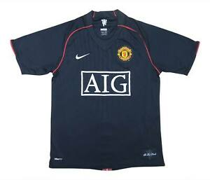 Manchester United 2007-08 Authentic Away Shirt (bene) S Soccer Jersey