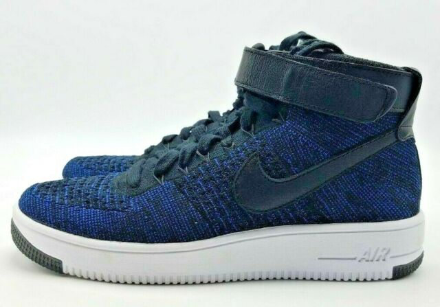 NIKE AIR FORCE 1 AF1 ULTRA FLYKNIT MID GAME ROYAL Sz 8 : 817420 400