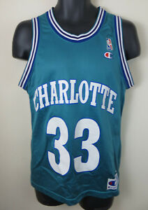 Champion Charlotte Hornets Nba Basketball Alonzo Mourning Jersey Vest Mens 36 Ebay