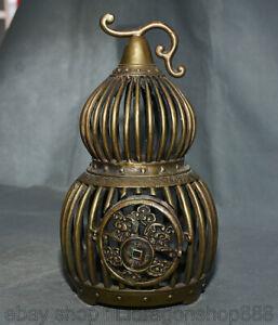 """11.4 """"cage à oiseaux de la cage de la chauve-souris  en bronze de la Chine"""