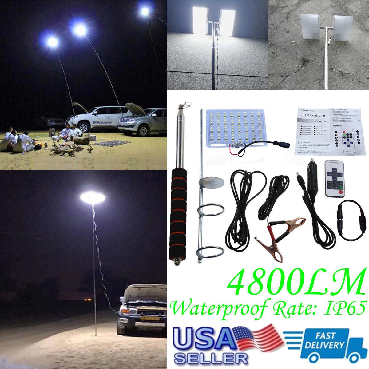 Telescopic COB Rod LED Lights Fishing Outdoor Camping Lanter