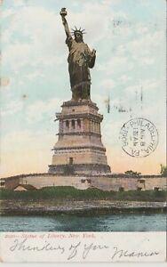 Statue-of-Liberty-New-York-City-Embossed-Vintage-Postcard-1906