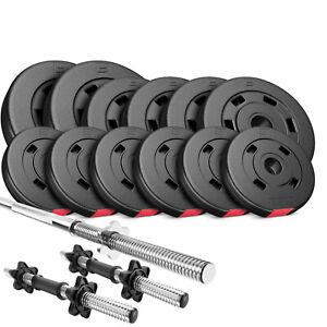 Hop-Sport-Hantelset-38-KG-Langhantel-Langhantelstange-Hantelcheiben-Gewichte