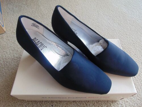 New Beacon Womans Ladies Dress Shoes Size 9 Black /& Navy