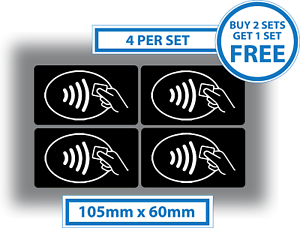4 x contactless stickers credit card payment signs 105x60mm taxi image is loading 4 x contactless stickers credit card payment signs colourmoves