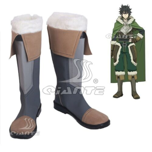 The Rising Of The Shield Hero Naofumi Iwatani Boots Cosplay Shoes Customized New