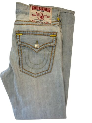 Mens TRUE RELIGION Billy Super T Jeans Size 34X32