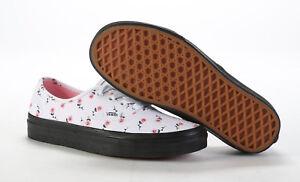 9762e6ba9e VANS Lazy OAF Roses Pink Flower Black Sole Womens Shoes Runners