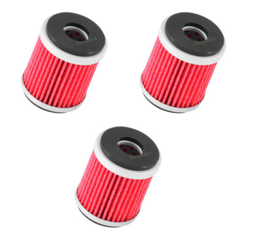 K/&N OIL FILTER HIGH FLOW REPLACEMENT 3 PACK YAMAHA YFZ 450 2004-2006 KN-141
