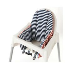 Ikea Antilop Highchair Cushion Cover Reversible 2 Colour Red Or Blue