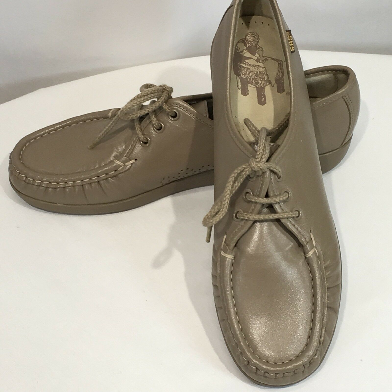 SAS shoes  Siesta  Oxford shoes Size 10 S Womens Mocha Lace Up Cushion Sole Work