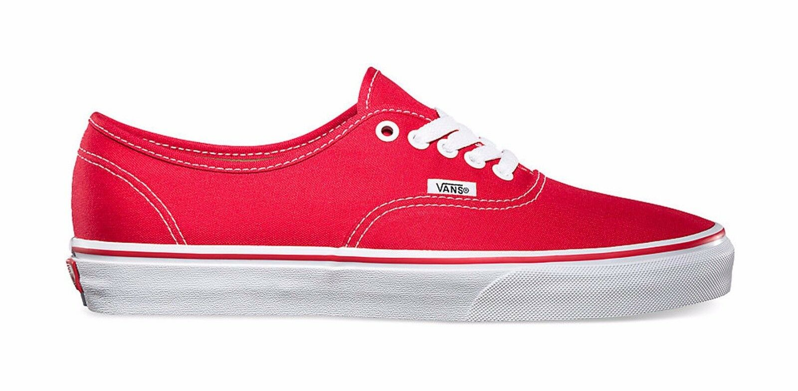 Vans Authentic Canvas shoes Men Size Sneakers VN-0EE3RED - Red White
