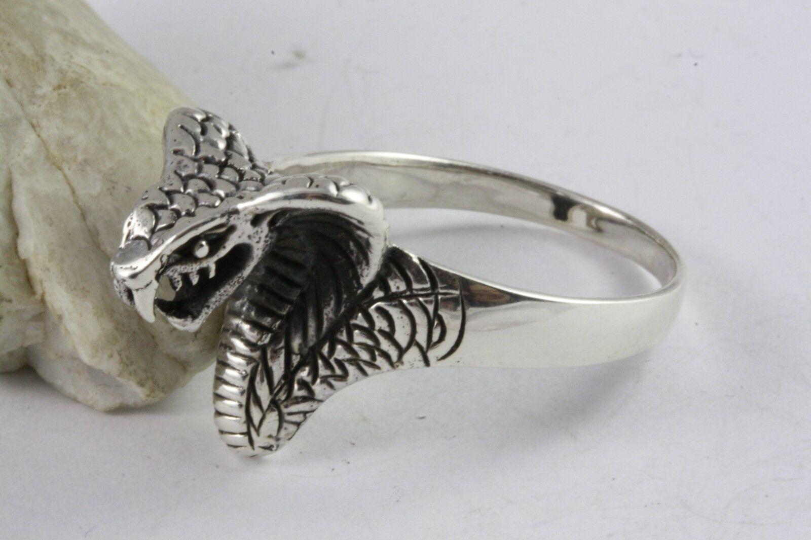 SCHLANGE SCHLANGENRING KOBRA RING silverRING 925 ECHT silver   550