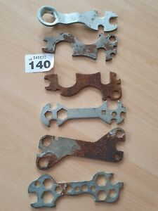 Vintage-job-lot-multi-spanners-circa-1950s-60s-great-collection-with-free-rust