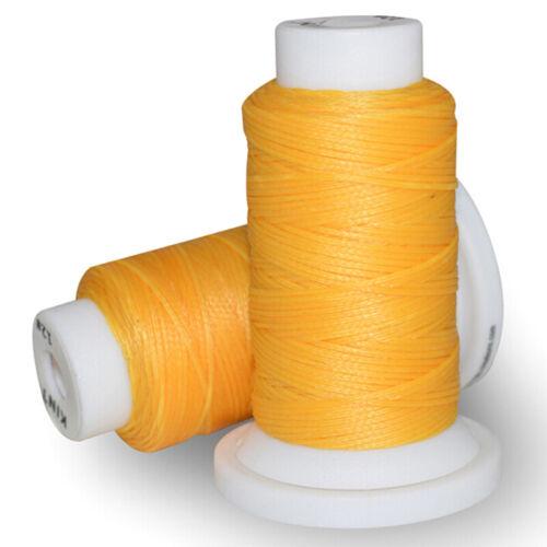 Gewachster Faden 0.8mm 50m Polyester-Schnur-Nähmaschine die für Leder 0USPD FA