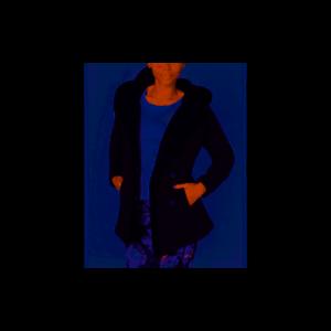 Women-039-s-IDEOLOGY-Hooded-Sherpa-Lined-Jacket-Black-size-L-NWT-69