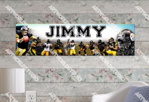 Personalized//Customized Pittsburgh Steelers Name Poster Wall Decoration Banner
