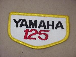 "NOS Vintage Yamaha 125 Patch 3-1/2"" x 2"""