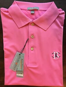 892aad63519 Peter Millar Pink Belmont Country Club E4 Summer Comfort Polo Golf ...