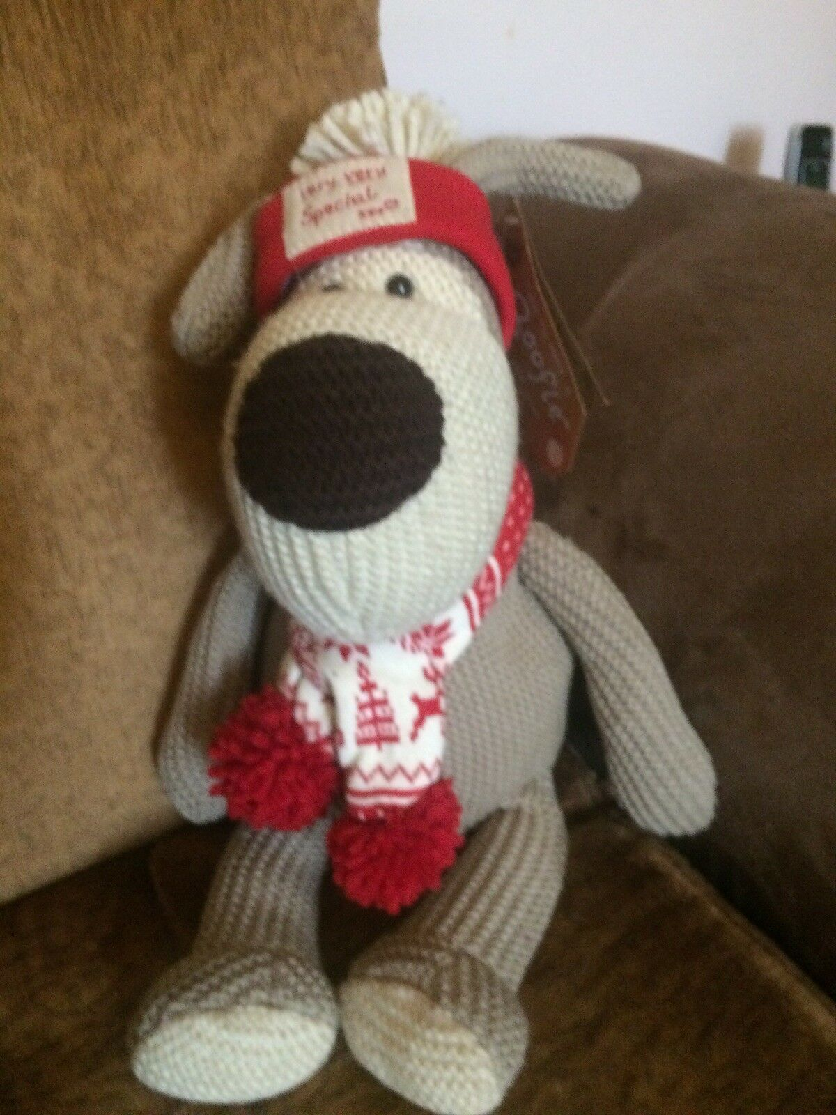 NEW BOOFLE LIMITED EDITION CHRISTMAS BEAR Scarf Very Very Special Valentines