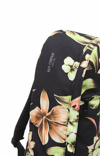 WOMENS GIRLS NEFF FILTHY FLORAL BLACK TROPICAL BACKPACK SCHOOL BAG NEW $49