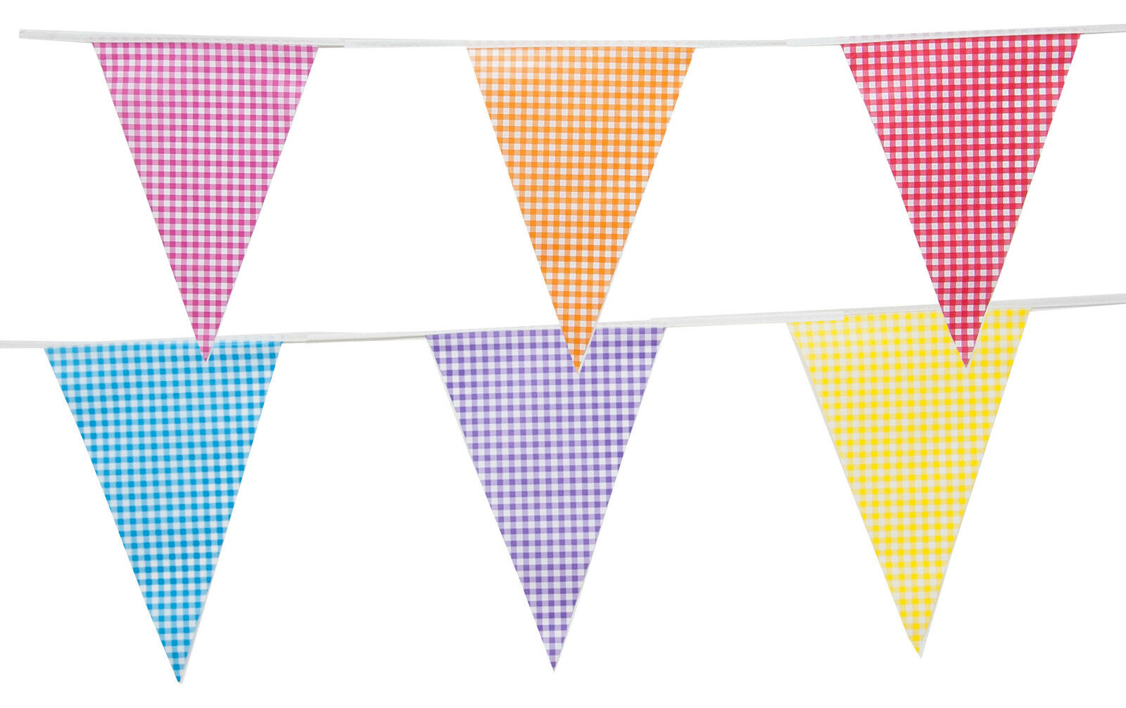 Royal Blue Red White /& Yellow Triangular Flag Bunting 10m with 24 Flags