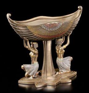 Égyptien Bol Dienerinnen - Figurine Statue Veronese Bronzé Égypte