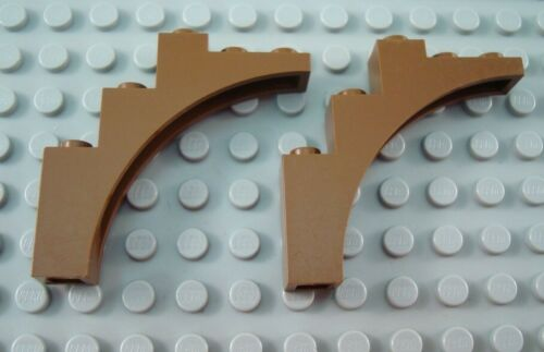 LEGO Lot of 2 Brown 1x5x4 Arch Brick Pieces