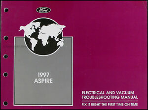 1997 ford aspire electrical and vacuum troubleshooting manual wiring rh ebay com