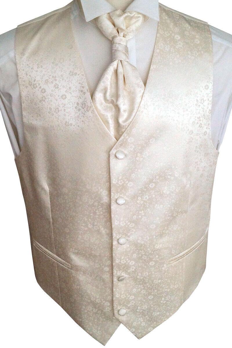Wedding Waistcoat With Plastron, Handkerchief, Tie 4-tlg. No. 28.1, Size 44 -114