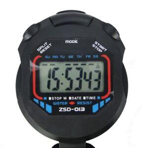 Handheld-Digital-LCD-Chronograph-Sports-Stoppuhr-Timer-Stoppuhr-S6N7