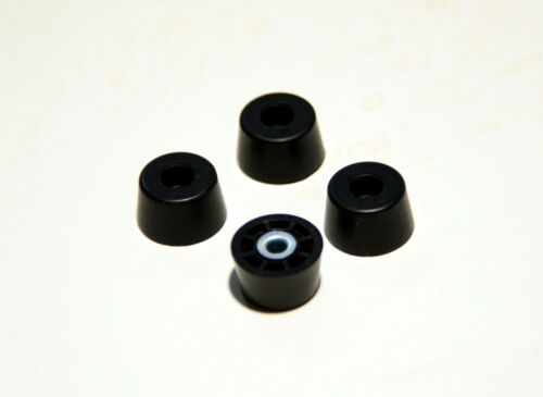 SMALL EXTRA TALL ROUND RUBBER FEET FOR AMPS RADIO CASES FIFTY 50 FREE SHIP