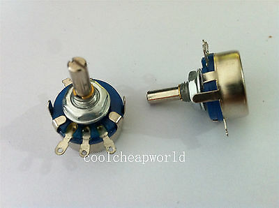 5pcs WH5-1A 1K Ohm 4mm Shaft 3 Terminal Linear Taper Rotary Potentiometer