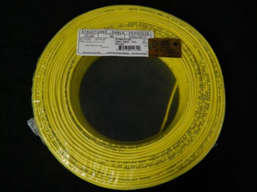 22 GAUGE 4 CONDUCTOR 100 FT YELLOW ALARM WIRE SOLID COPPER HOME SECURITY CABLE